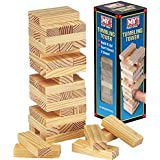Wooden Tumbling Stacking Tower Kids Family Party Board Game