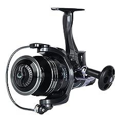 Idea Regalo - Discoball IFR6000spinning mulinello con 11+ 1BB cuscinetto a sfera anteriore e frizione posteriore 4.7: 1Pike Carp Dual Brake Baitrunner Fishing Tools