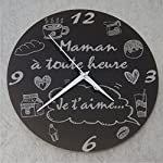 Pendules murales : Cuisine & Maison : Amazon.fr