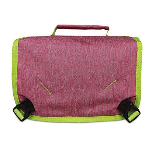 Voyage Portable Sac À Cosmétique Pliant De Stockage Portable Imperméable De Grande Capacité Multi-Fonction Simple Lavage Universel 2 Couleur 27 * 9 * 21.5cm MUMUJIN (Color : Rose Red)