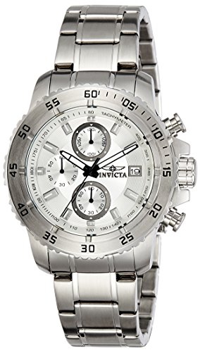 Invicta Men's 'Pro Diver' Quartz Stainless Steel Casual Watch, Color: Silver-Toned (Model: 21570)