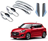 #6: Auto Pearl - Premium Quality Car Chrome Front and Rear Door Handle Latch Cover with Handle Bowl for - Maruti Suzuki Swift 2018