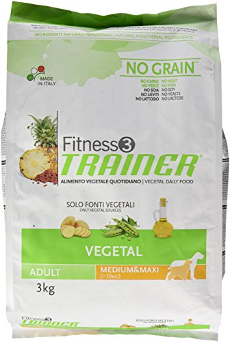 Trainer Fitness 3 No Grain Med&Maxi Vegetal Patate Piselli Olio 2kg