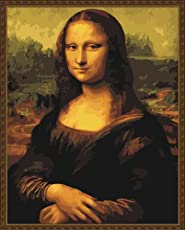 Holdfound Diy Oil Painting, Paint By Number Kit- Worldwide Famous Painting Mona Lisa Smile By Leonardo Da Vinci 16*20 Inch.