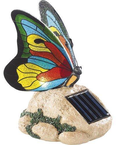 Décoration de jardin à LED ''Papillon coloré''