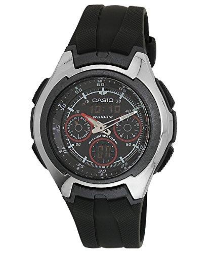 Casio AQ163W1B2 - Reloj Unisex caucho Negro / Plata