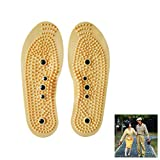 ULTNICE Massage Insoles 2 Pairs Foot Magnetic Magnet Acupressure Shoe Pads Gel Foot
