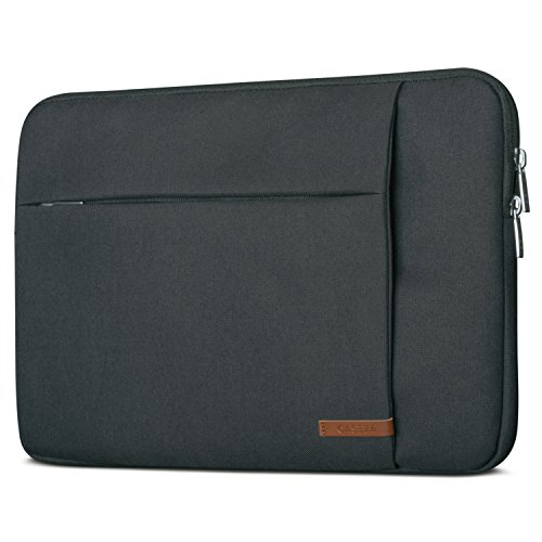 CASEZA Laptophülle 13-13.3 Zoll Anthrazit London Laptop Sleeve Laptoptasche Hülle für ASUS Acer Surface Book Samsung Dell Toshiba UVM. - Notebook Tasche Wasserfest mit 2 Seitentaschen