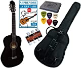 Pack Guitare Classique 4/4 (Adulte) Avec 3 Accessoires (noire)