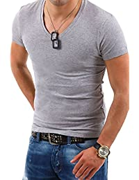 MYTRENDS Styles MT Styles Deep V-Neck T-Shirt BS-500