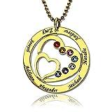 Best Infinity Colliers ami Coeur Collier Golds - Panicy Collier Nom Personnalisé en Coeur Pendentif Coeur Review