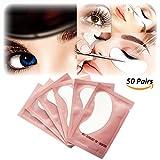 Tuokay 50 Paar Augenpads, Cooles Gefühl Nicht Klebrig Augen Gel Pads für Wimpernverlängerung und Augenmakeup Entferner