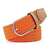 Cintura Elastica Lotrtryy per Uomo e Donna Cinturino in Tessuto Cintura, Arancio