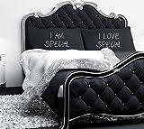 I AM Special i Love Special nero federa paio di coppie federe federa da regalo, regalo per San Valentino