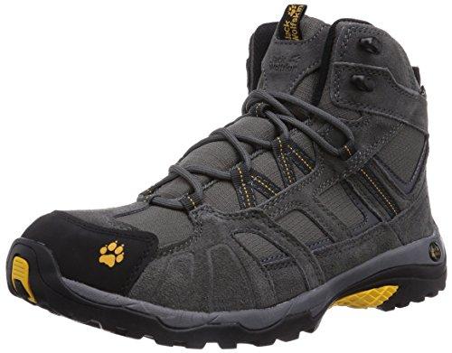 #Jack Wolfskin Vojo Hike Mid Texapore 4011361 Herren Wanderschuhe, schwarz (burly yellow 3800), 44.5#