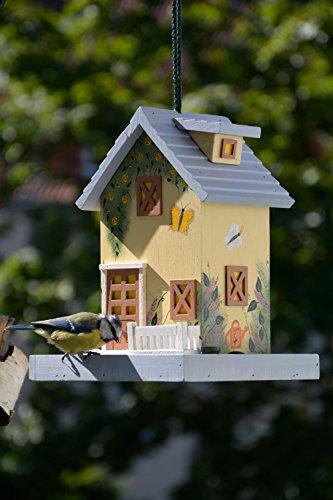 dobar 25119FSC Buntes Vogelhaus Western zum Aufhängen aus Holz, Deko Futterhaus Sommer, bunt - 6