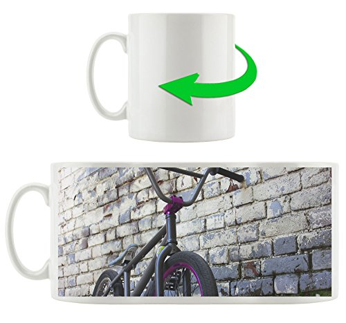 BMX Bike, Motivtasse aus weißem Keramik 300ml, Tolle Geschenkidee zu jedem Anlass. Ihr neuer Lieblingsbecher für Kaffe, Tee und Heißgetränke.