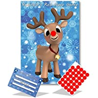 Christmas Family Game - RUDOLPH'S RED NOSE- Family, Kids, Office Xmas Party Game - 35 player - #X
