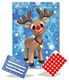 Christmas Family Game - RUDOLPH\'S RED NOSE- Family, Kids, Office Xmas Party Game - 35 player - #X