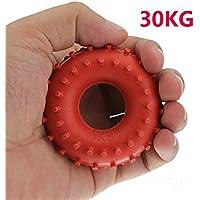 mark8shop nuevo 30kg anillo de goma agarre Fuerza de dispositivo de agarre de mano, Rojo
