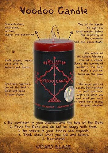 """Voodoo Candle""""Abschluss des Prozesses, Schließung der Situation"""" V-01"""