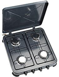 Firefriend Cocina de gas - Placa (Mesa, Encimera de gas, Acero inoxidable, Acero inoxidable, 1500 W, Giratorio)