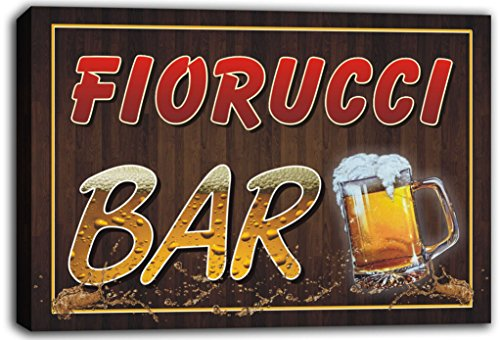 scw3-076276-fiorucci-name-home-bar-pub-beer-mugs-cheers-stretched-canvas-print-sign