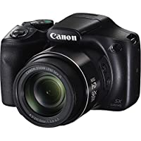 Canon PowerShot SX540HS 20.3MP Digital Camera with 50x Optical Zoom (Black) + Memory Card + Camera Case