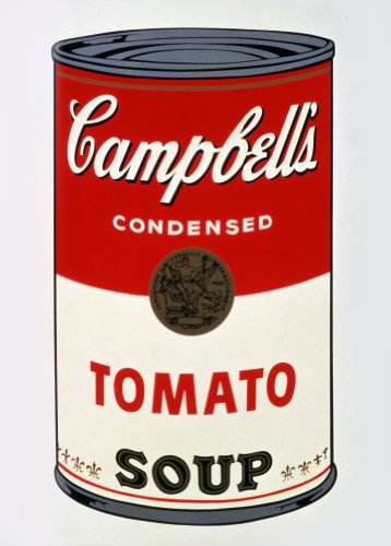 Andy Warhol Campbell 's Soup 250 gsm, Hochglanz, A3, vervielfältigtes Advertisement