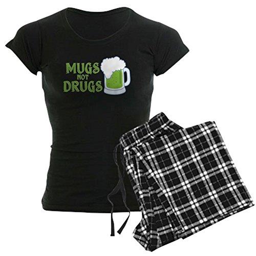 CafePress Mugs Not Drugs - Womens Novelty Cotton Pajama Set, Comfortable PJ Sleepwear