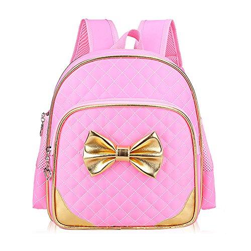 Bcony Nette Kindergarten Schultaschen/Kinderrucksack/Schulrucksäcke /Kinderbuch Tasche,Rosa (Erweiterung Der Tasche)