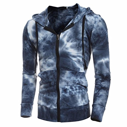 Apparel Alternative Sweatshirt (VENMO Herren Apparel Kapuzenjacke Kapuzen Sweat-Jacke Hooded Zipper Slim Fit Hoodie Kapuzenpullover Sweatshirt Jacke Hemd steppjacke Kapuzenjacke Wintermantel Strickjacke Softshelljacke (XXL, Blue))