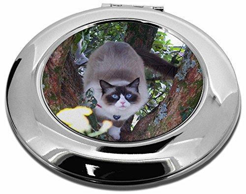 Ragdoll Katze im Baum Make-up Rund Taschenspiegel Weihnachten (Up Ragdoll Make)