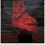 Nachtlicht 3D Led Roller Skating Modellierung Nachtlicht 7 Farben Ändern Aggressive Inline Schreibtischlampe Junge Schlafzimmer Nacht Dekor Leuchten