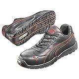 Puma Safety Shoes Daytona Low S3 HRO SRC, Puma 642620-210 Unisex-Erwachsene Espadrille Halbschuhe, Schwarz (schwarz/rot 210), EU 45