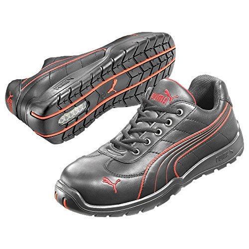 Puma Safety Shoes Daytona Low S3 HRO SRC, Puma 642620-210 Unisex-Erwachsene Espadrille Halbschuhe, Schwarz (schwarz/rot 210), EU 44 -