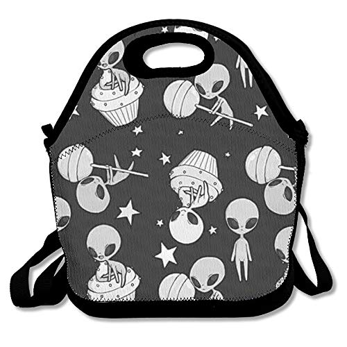 Alien Travel Picnic Lunch Bag Lunchboxes Outdoor Lunch Box Bag Lunch Tote Handbag Convenience for Out