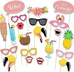 Idea Regalo - Veewon, 21accessori per travestimenti per foto, bomboniere, giochi, notte brava, addio al nubilato, stile tropicale hawaiano