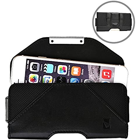 Funda tipo cartera Belt Mate de Cooper Cases(TM) para smartphones de Samsung Galaxy Y Plus, Young/2 con sujeción al cinturón con cierre
