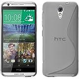 Funda de silicona para HTC Desire 620 - S-Style transparente - Cover PhoneNatic Cubierta + protector de pantalla