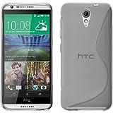 PhoneNatic Case für HTC Desire 620 Hülle Silikon Clear, S-Style + 2 Schutzfolien