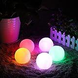 """LED Ball Mood Lamp, EONANT Globo Piscina Luz Flotante con 7 Luces de Color de Modo para los Niños Luz de Noche LED Iluminación Exterior de Interior (7.8cm / 3.07 """") (8-pack)"""