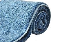 Merino Couverture bébé unie en pure laine COUVERTURE 120 x 150 cm Woolmark BLEU COUVERTURE