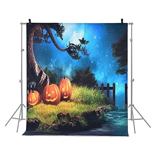 Andoer 6.9 * 5ft / 2.1 * 1.5m Halloween Hintergrund Fotografie Hintergrund Dekoration Kürbis Muster für DSLR Kamera Foto (Foto Hintergrund Halloween)