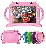 CHIN FAI Custodia per iPad 2 per bambini, custodia in silicone con custodia BPA FREE con maniglia per iPad 2/3/4 [struttura antiurto a griglia] [design sottile] (rosa)