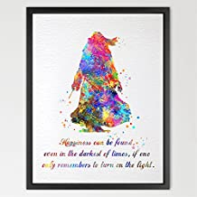 dignovel Studios Dumbledore Harry Potter cita acuarela ilustración art print Wall Art Póster decoración del hogar arte colgante de pared niños arte regalo de cumpleaños n334-unframed