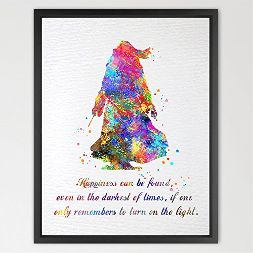 dignovel-studios-n334-wandbild-dumbledore-harry-potter-aquarell-illustration-kunstdruck-poster-fur-k