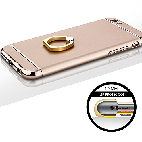 Finoo étui pour téléphone portable avec anneau Iphone - Or, Iphone SE Or