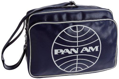 logoshirt-pan-am-globe-travel-bag-borsa-a-tracolla-blu-bleu-marine-taglia-unica