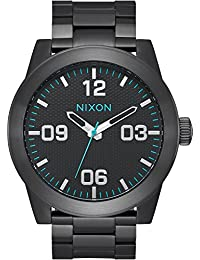 Nixon Unisex The Corporal SS X The Dark Energy Collection All Black/Blue Watch